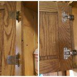 Ремонт на панти на врати на кухненски шкафове